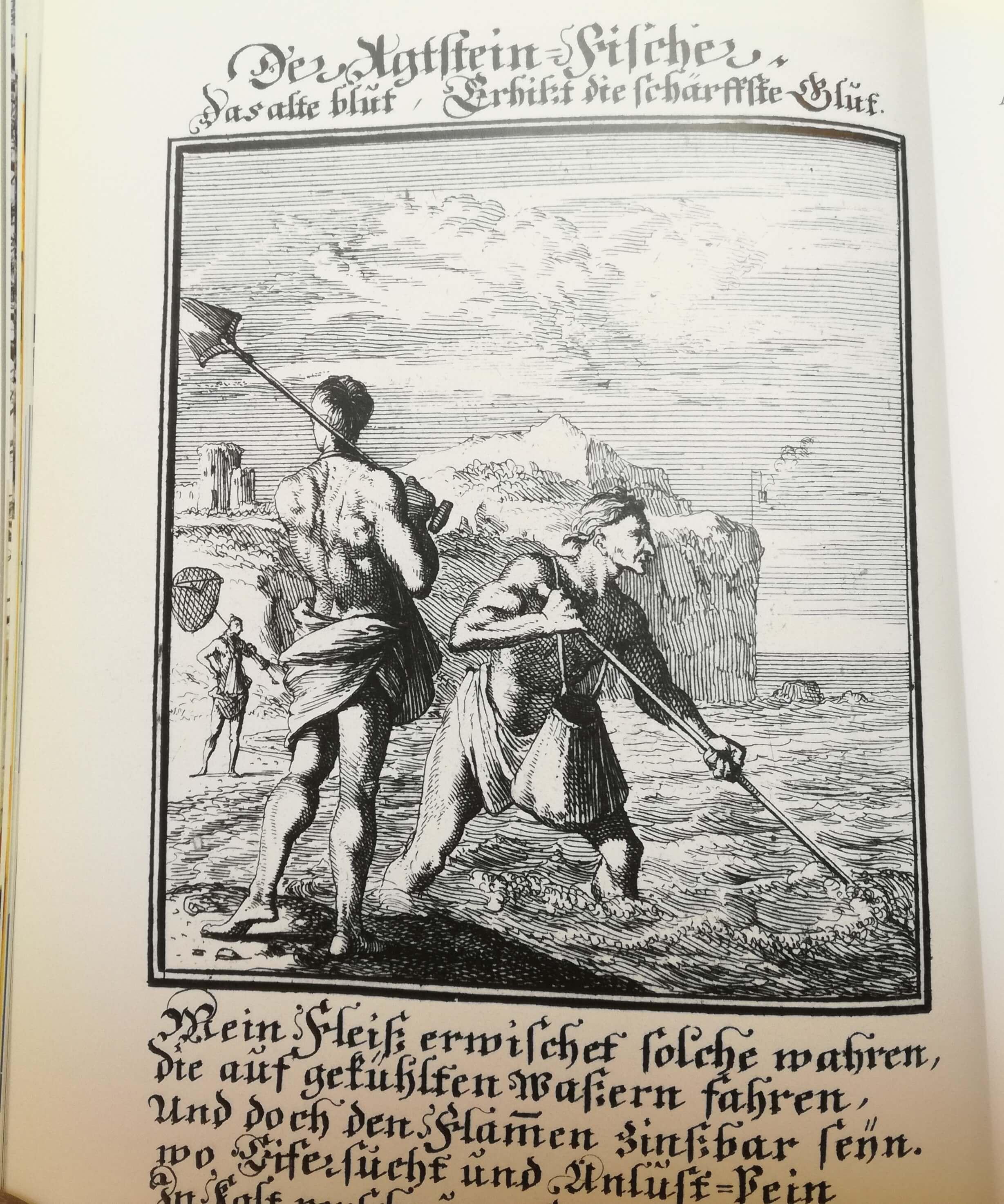pescatore di ambra nell'antichità
