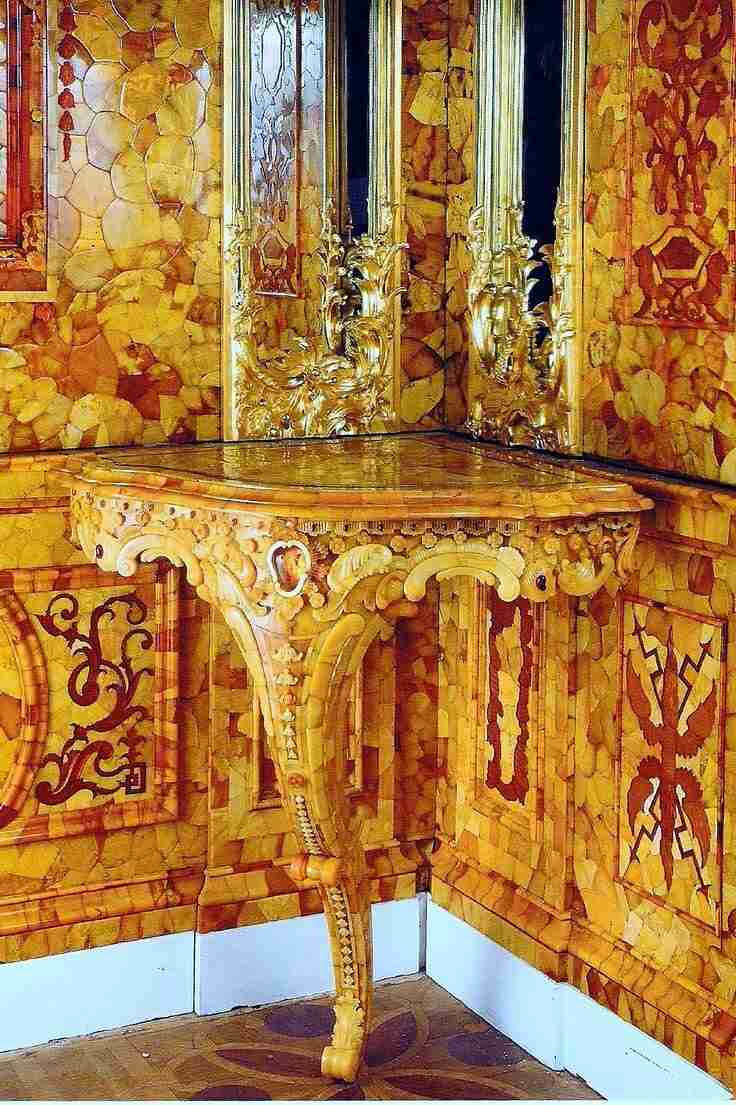 il dettaglio della camera d'ambra